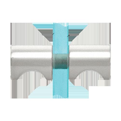 Polished Chrome Back-to-Back E-Z Grip Style Shower Door Knobs