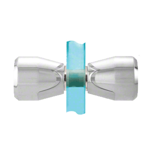 Shower Screen Polished Chrome Back-to-Back Bow-Tie Style Knobs